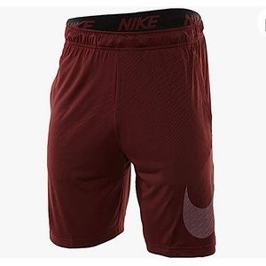 "Nike Dri Fit 9"" maroon Emboss Training Shorts S"